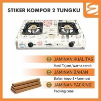 STIKER KOMPOR 2 TUNGKU 100 x 50cm - KITCHEN (STICKER KOMPOR 2 TUNGKU)