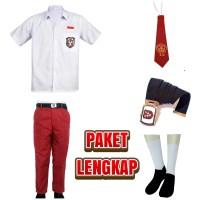 Seragam Sekolah SD Merah Putih Lengkap Celana Panjang Baju Pendek