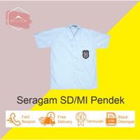 Baju Seragam Sekolah SD/MI Kemeja Anak Putih Lengan Pendek Kelas 1-6
