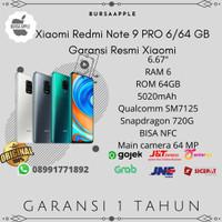 Xiaomi Redmi Note 9 Pro 6/64 RAM 6GB ROM 64GB Garansi Resmi Xiaomi