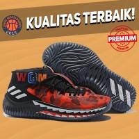 Sepatu Basket Sneakers Adidas Dame Lillard 4 BAPE Red Camo Pria Wanita