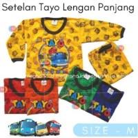 Baju Anak Setelan Lengan Panjang Motif Tayo MhL - Size M 1-2 tahun