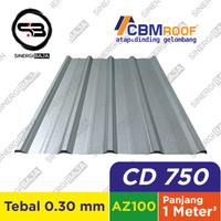 CBMROOF CD 750 AZ100 Atap Galvalume/Zincalume/Spandek