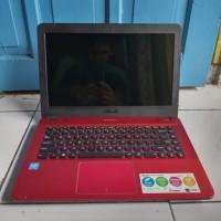Asus X441N Merah 2GB 500GB Apollo Lake Bluetooth Laptop Bekas Second