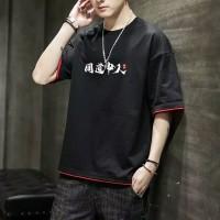 KAOS BAJU DISTRO T-SHIRT PRIA KOREA ORIGINAL M-XXXL/3XL D3