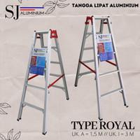 Tangga Lipat Aluminium Royal 1,5 Meter / 150 CM - BAHAN BESAR & TEBAL