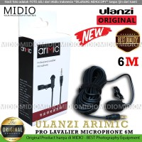 Ulanzi Arimic Profesional Lavalier Microphone 6M Clip On Microphone