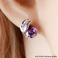 anting white xuping 27155v batu violet ungu