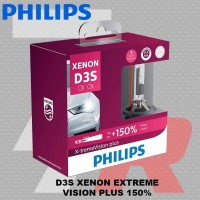 Lampu mobil HID PHILIPS D3S 85V 35W XENON EXTREME VISION GEN 2 150%