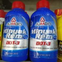 BRAKE FLUID/MINYAK REM JUMBO DOT-3 MOTOR/MOBIL 300ML WARNA MERAH