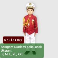 Baju seragam akademi polisi anak akpol pocil kostum profesi karnaval