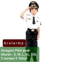 baju pilot anak kostum profesi anak Seragam pilot anak karnaval murah