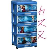 KHUSUS GOSEND Napolly Frozen lemari laci plastik susun 4 Berkualitas