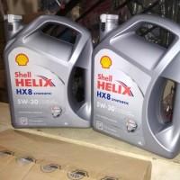 Oli Shell Helix HX 8 Synthetic SAE 5W-30 Galon 4 Liter Original
