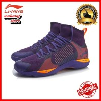 PROMO Sepatu Badminton Lining ORIGINAL Dagger Pounce AYAP011 Purple-