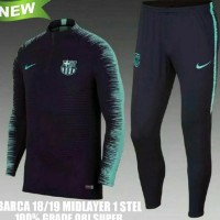 New R08a Jaket Midlayer Sweater Tracksuit Barcelona Barca Training 18