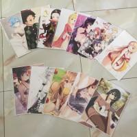 print cetak poster anime custom desain bebas 150gr full colour uk A5