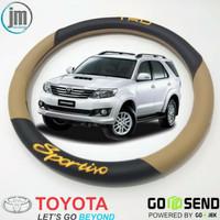 Sarung Stir Mobil Fortuner-Cover Axsesoris Stir Trd Sportivo-Toyota