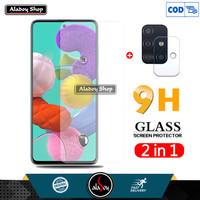 Aladoy Tempered Glass Layar Clear dan Camera Lens Samsung A51
