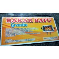 BATU BAKAR ORI/ALAT PEMANGGANG Sate/Panggangan/SQUARE PAN BATU GRANIT