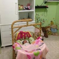 Tempat tidur bayi rotan / tempat tidur bayi ayunan rotan