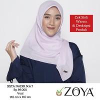 Hijab Jilbab Kerudung Segi Empat SISTA NADIR Scarf ZOYA Original