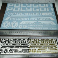 Cutting Sticker Frame Sepeda POLYGON panjang 28cm bahan Oracal