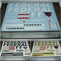 Cutting Sticker Frame Sepeda FEDERAL panjang 25cm bahan Oracal