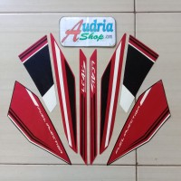 Striping Stiker Motor Yamaha New Vixion Advance 2016 Hitam-Merah