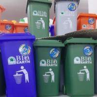 Tong Kotak Tempat Sampah Recycle Bin Mini Segi Green Leaf 98 x 76 x 14