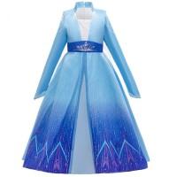 Baju pesta anak perempuan sz 4-9th dress anak kostum Frozen Elsa long