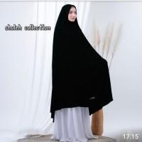 Hijab Jilbab Syar'i Super Jumbo Pet Nonpet- Hitam