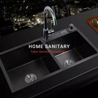 Paket Kitchen Sink Stainles 304 Black 8245/Paket Bak Cuci Piring Hitam