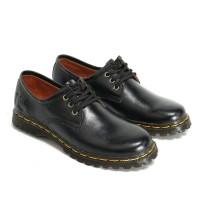 Sepatu Boots Wanita Low Boot 3 Hole Kulit Asli Like Docmart 7010