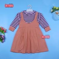 Dress Kiki size 1-4 Tahun / Dres Anak Perempuan Overall Baju Gaun