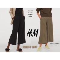 Celana kulot lebar 7 per 8 dari H&M katun nyaman