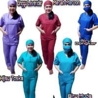 Baju oka Perawat pria dan wanita/baju bidan/baju dokter/baju tindakan