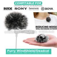 Furry WindShield/Deadcat Bulu Cover Clip-on Mic Universal Microphone