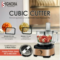 Food Processor PRO signora+ 2cube cutter READY STOCK