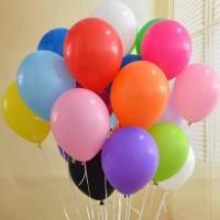 Balon latex warna doff ukuran 12 inch / balon karet warna warni