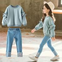 Baju Setelan Anak Perempuan 4 - 9 Tahun Import . PMI-1731