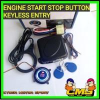 sistem starter mobil tanpa kunci. start stop engine keyless entry.