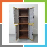 Lf366 Lemari 4 Pintu Grand Mini Club Cabinet Plastik Gwinwspknc