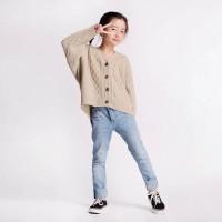LECA KNIT OUTER NUDE LBS Kids 4-10 Tahun