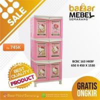 Napolly Lemari Plastik Susun 3 Hello kitty BCBC 163 Hello Kitty