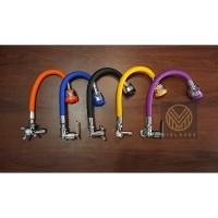 Kran Bak Cuci Piring, Kran Fleksibel Angsa Stainless / Karet BCP