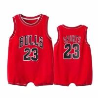 baju bayi jumper jersey basket red bulls 23 for baby
