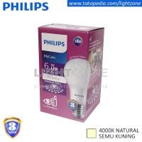 Lampu LED Philips Semu Kuning Mycare 6W 6Watt My Care Natural White