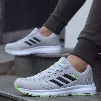 sepatu Adidas Neo Abu List Hitam Sneakers Pria Import Made in vietnam