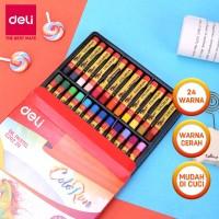 Deli EC20220 School Crayon/Krayon-Oil Pastel Rich Color 24C